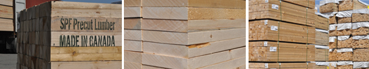SPF Precut Lumber Spruce Pine Fir Product Images
