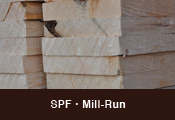 SPF Precut Lumber - Mill Run